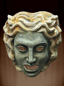 Imagen de la máscara de teatro griego