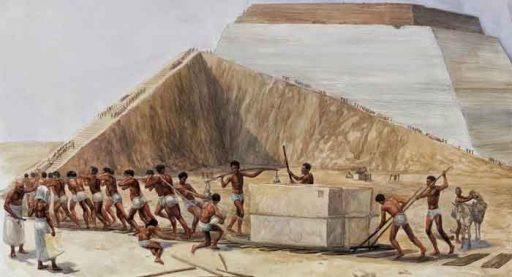 Construccion de la piramides
