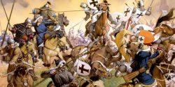 Escena de la batalla de Mohi