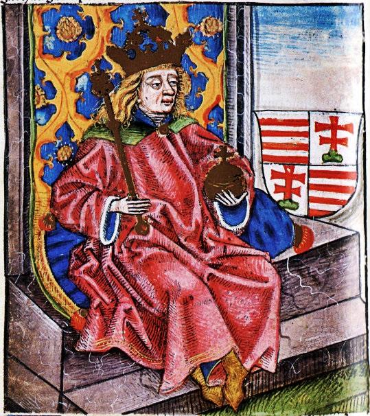 Ilustración del monarca de Hungría Bela IV.