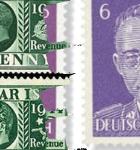 Sellos postales falsos con la cara de Himmler